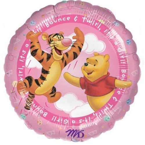 "Winnie The Pooh  It's A Girl Foil Balloon  18"""