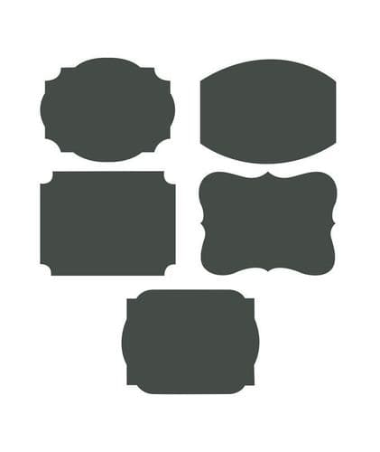 Writable' Chalkboard Adhesive Labels Includes 1 Chalk Stick