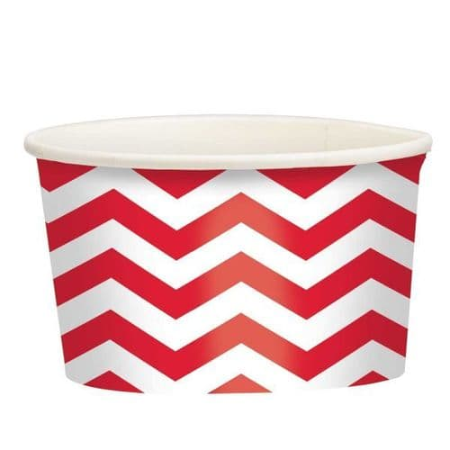 Apple Red Chevron Treat Cups 20 per pack.