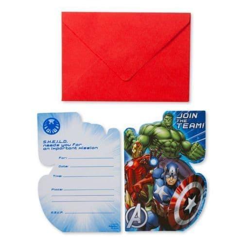 Avengers 8 Invites & Envelopes 8's