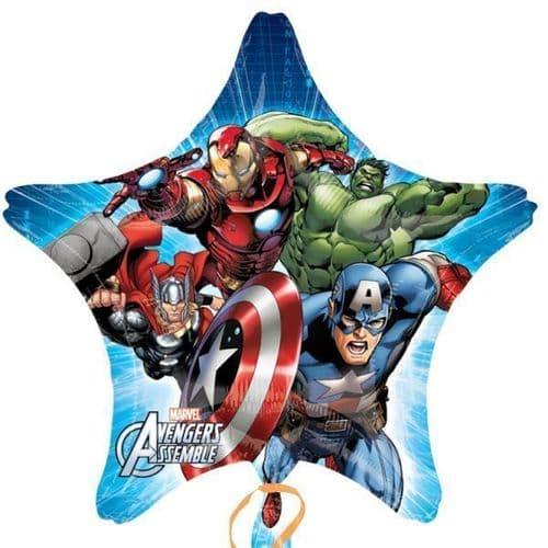 Avengers Assemble Star Jumbo Foil Balloons