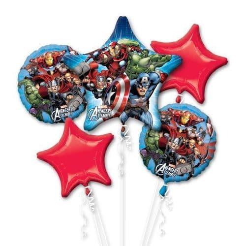 Avengers Foil Bouquet Balloons