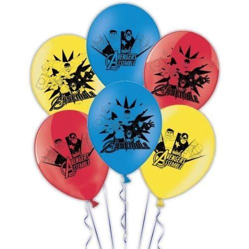 """Avengers Latex Balloons 11""""/27.5cm 6's"""