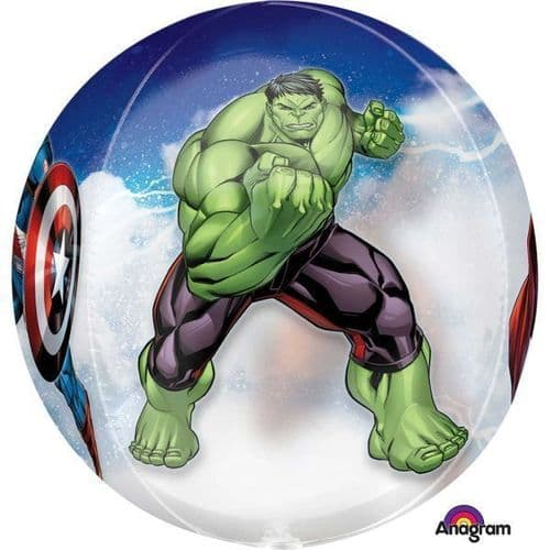 """Avengers Orbz Foil Balloons 15"""" x 16"""""""