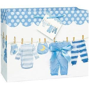 Baby Bow Clothesline Blue-Large