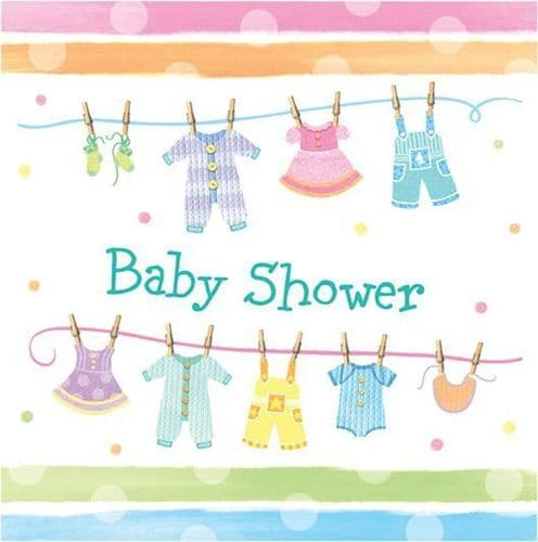 Baby Clothes 16 x 2ply Luncheon Napkins