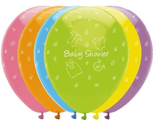 """Baby Clothes 6 x 12"""" Printed Latex Balloons"""
