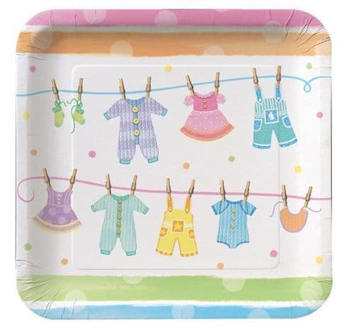 """Baby Clothes 8 x 9"""" Dinner Plates"""