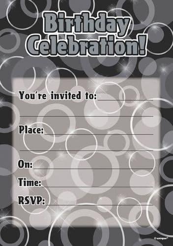 Black Glitz Black/Silver Flat Invite 16's