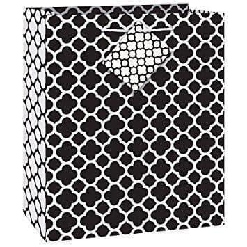 Black Quatrefoil Giftbag-Medium