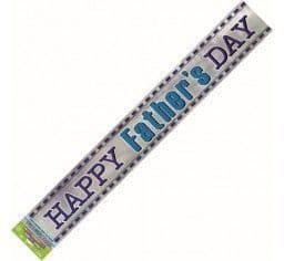 Blue Stripe Father's Day Foil Banner-12Ft
