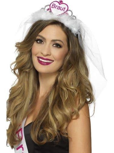 Braut Tiara - White & Pink