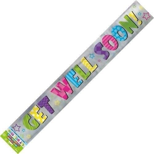 Bright Get Well Foil Banner-12Ft