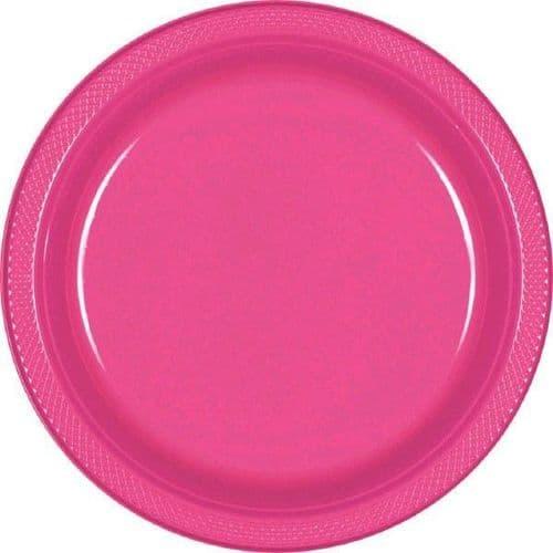 Bright Pink Plastic Plate 17.7cm 20 per pack.