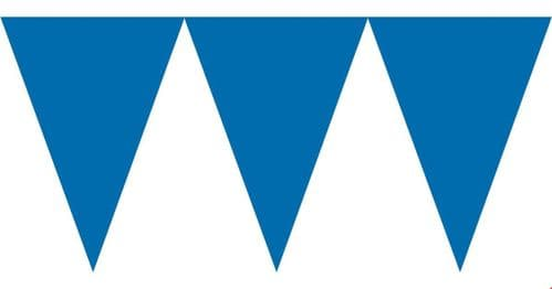 Bright Royal Blue Paper Pennant Banners 4.5m