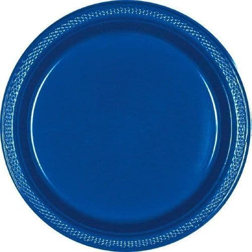 Bright Royal Blue Plastic Plates 18cm  20 per pack.