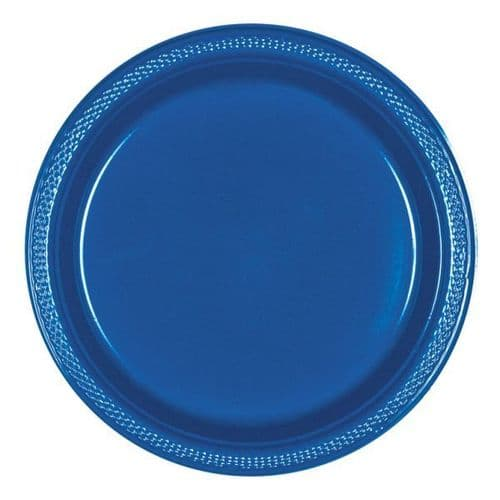 Bright Royal Blue Plastic Plates 23cm  20 per pack.