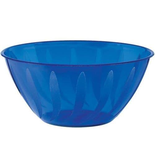 Bright Royal Blue Swirl Bowl 70cl - 36 PKG