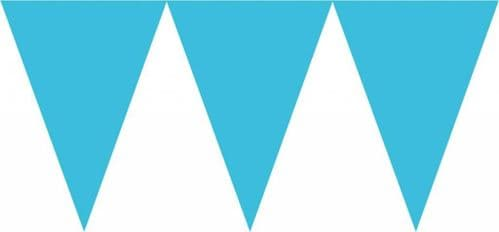 Caribbean Blue Paper Pennant Banners 4.5m
