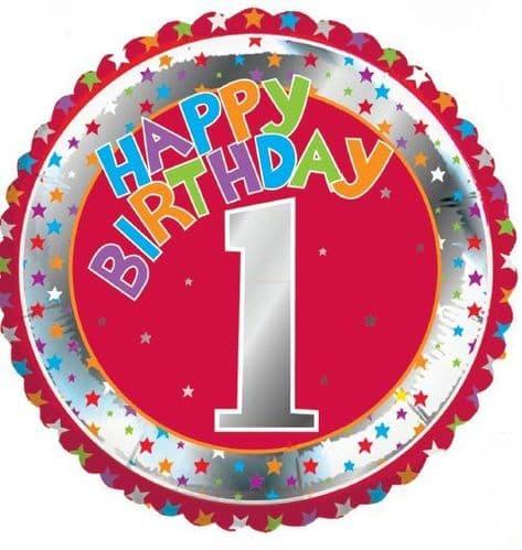 Children's Milestone Age 1 Foil Balloon
