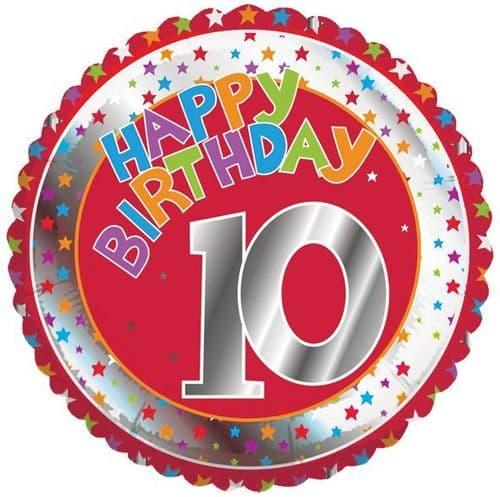 Children's Milestone Age 10 Foil Balloon