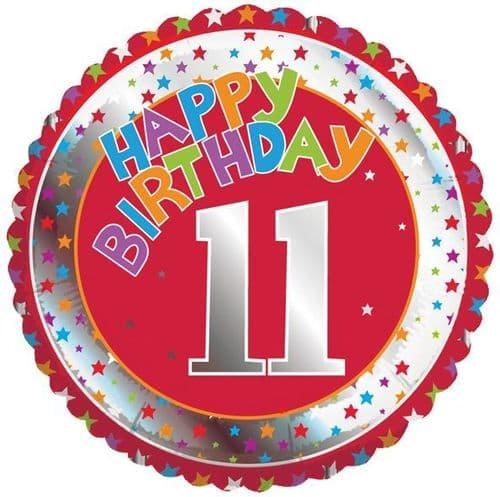Children's Milestone Age 11 Foil Balloon