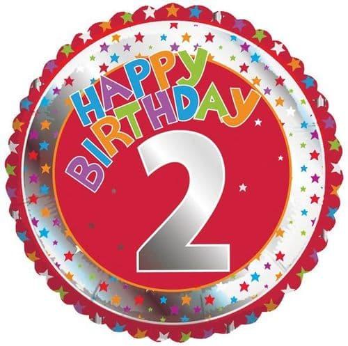 Children's Milestone Age 2 Foil Balloon