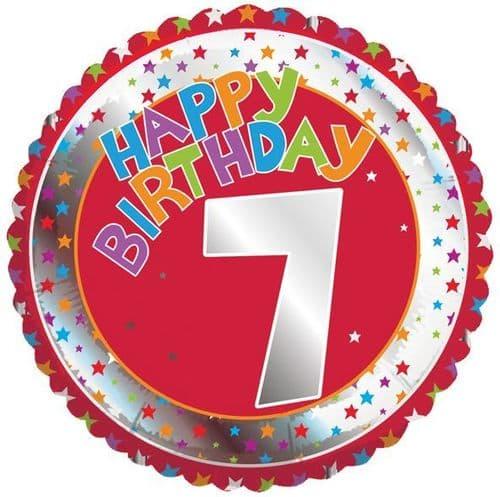 Children's Milestone Age 7 Foil Balloon