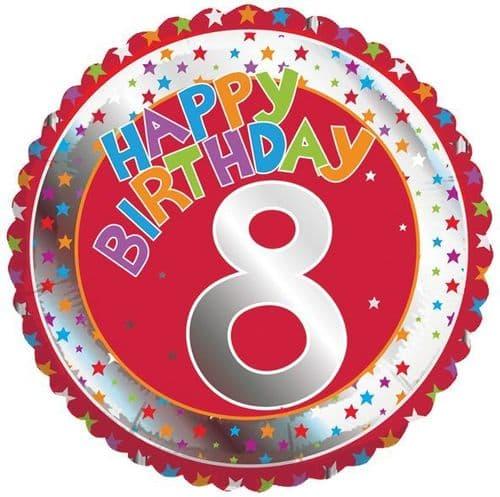 Children's Milestone Age 8 Foil Balloon