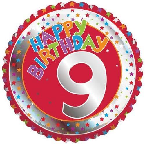 Children's Milestone Age 9 Foil Balloon
