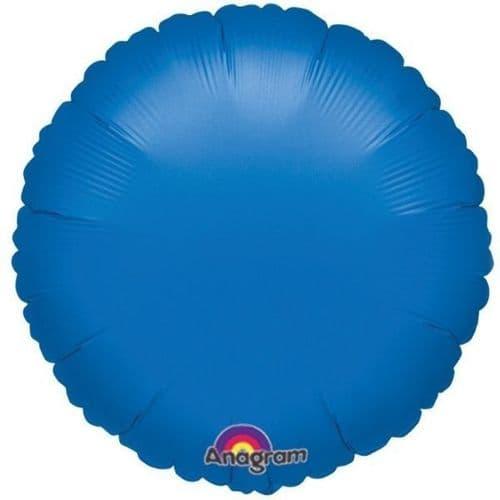 Circle Blue Foil Balloon