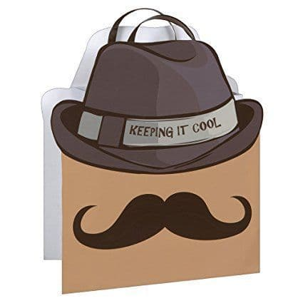 Cool Mustache Gift Bag-Large