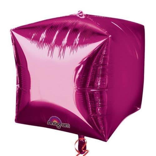 "Cubez Bright Pink Foil Balloon 15"""
