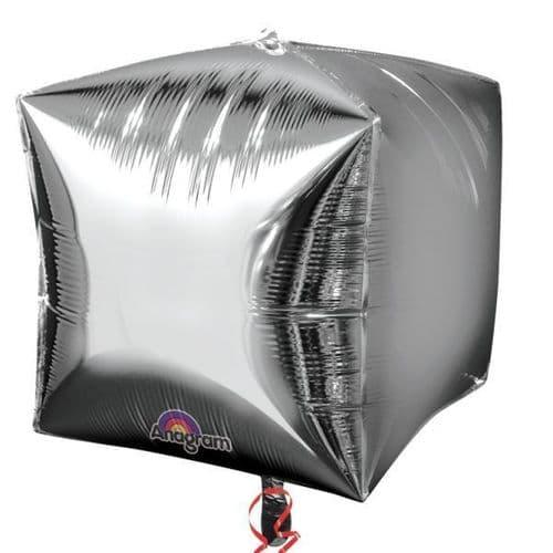"""Cubez Silver Foil Balloon 15"""""""
