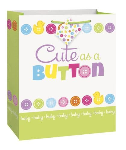Cute As A Button Bs Giftbag-Large