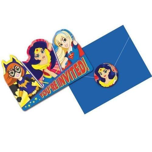 DC Super Hero Girls Invitations & Envelopes 8's