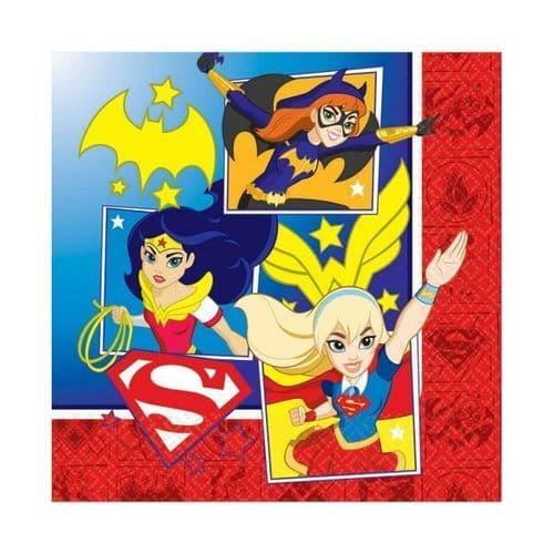 DC Super Hero Girls Luncheon Napkins 33cm /16