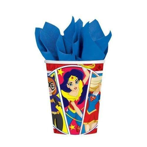 DC Super Hero Girls Paper Cups 266ml 8's