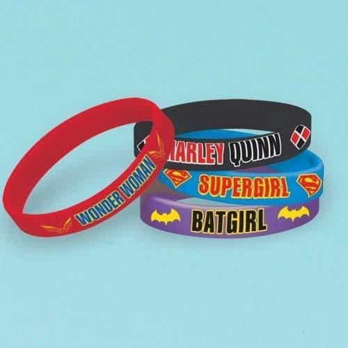 DC Super Hero Girls Rubber Bracelets 6's