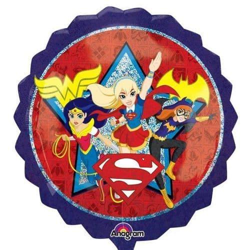 "DC Super Hero Girls SuperShape XL Foil Balloons 28""/71cm x 28""/71cm"