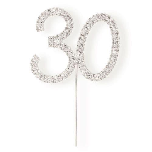 Diamante 30 on Silver Stem