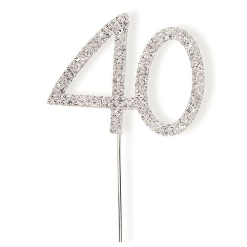 Diamante 40 on Silver Stem