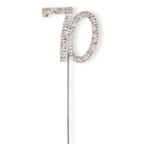Diamante 70 on Silver Stem