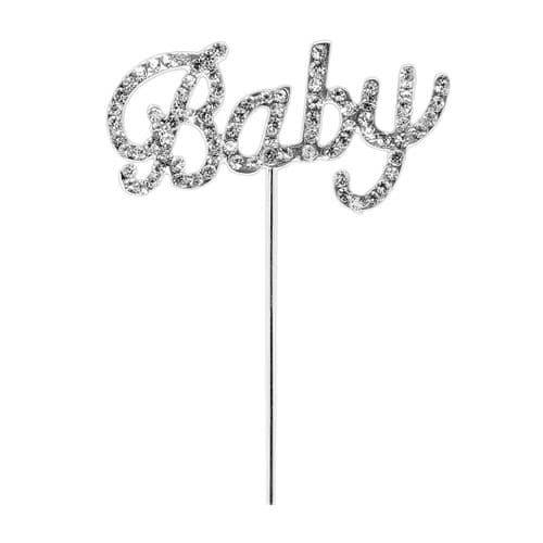 Diamante Baby on Silver Stem