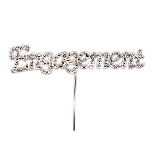 Diamante Engagement on Silver Stem