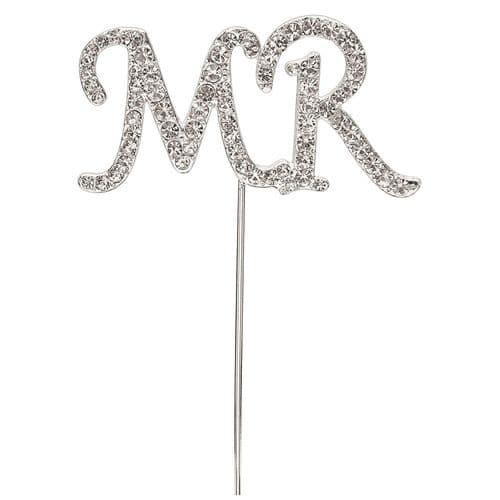 "Diamante ""MR"" on Silver Stem"