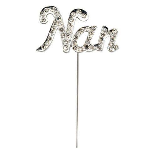 Diamante Nan on Silver Stem
