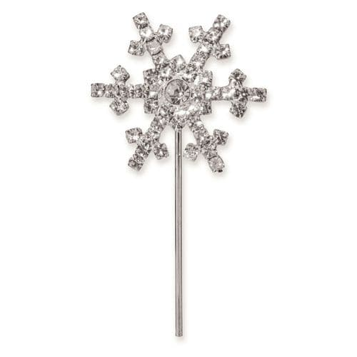 Diamante Snow Flake on Silver Stem