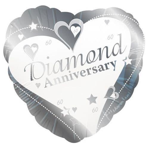 Diamond Anniversary Foil Balloon