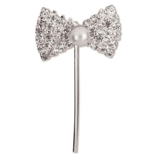 Diamond/Pearl Bow on Stem